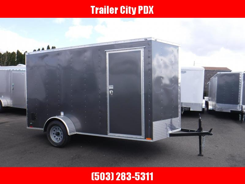 Continental Cargo 6 X 12 3K RAMP CHARCOAL  Enclosed Cargo Trailer