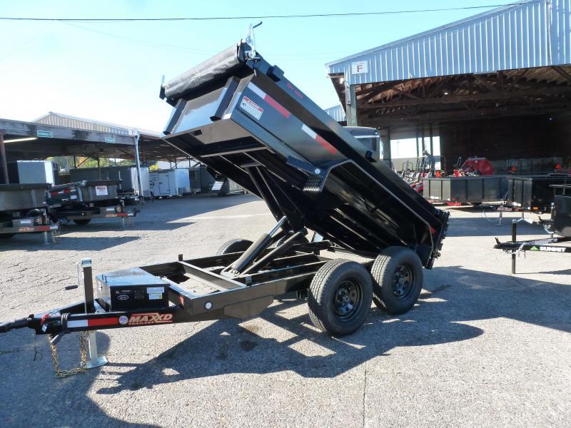 MAXEY 5 X 10 7K Scissor Lift Dump  TARPS. BLACK