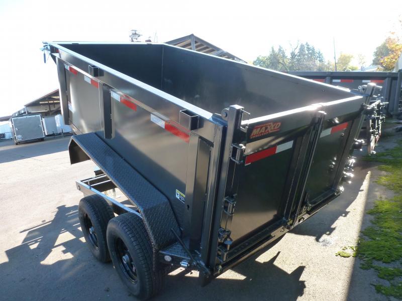 "2020 MAXXD D6X 10 X 60"" 10K Scissor Lift Dump Trailer Dump Trailer"