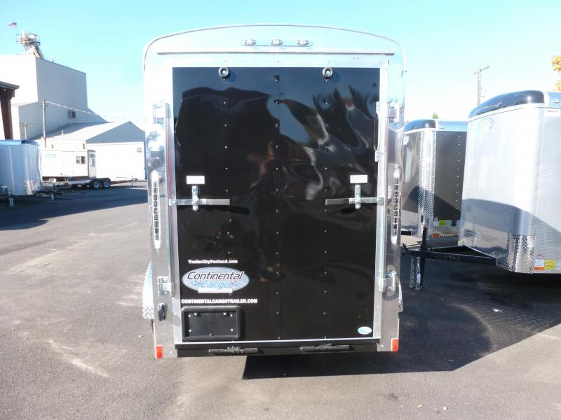 2020 Continental Cargo 5 X 10 3K RAMP SUPER TALL BLACK Enclosed Cargo Trailer