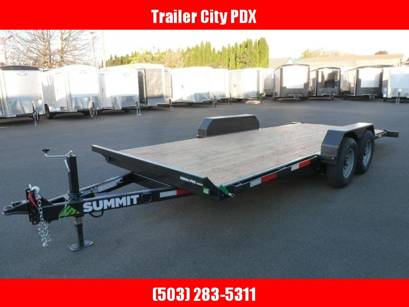 2020 Summit DPTB718TA3 Flatbed Trailer