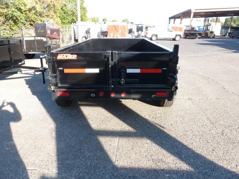 MAXXD 5 X 10 10K 3' sides.Scissor Lift Dump  BLACK