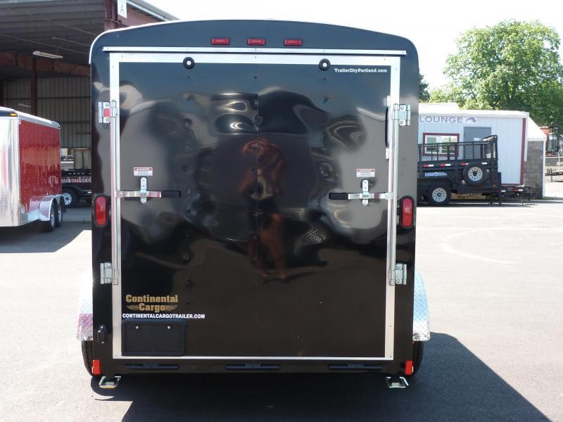 Continental Cargo 6 X 10 3K TALL BLACK RAMP Enclosed Cargo Trailer