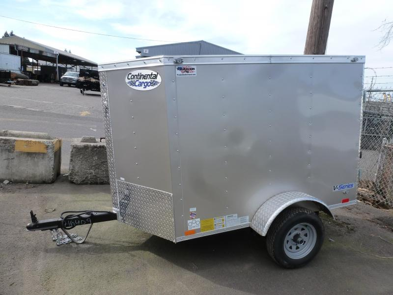 2020 Continental Cargo 4 X 6 V -SERIES CHAMPAGNE BEIGE Enclosed Cargo Trailer