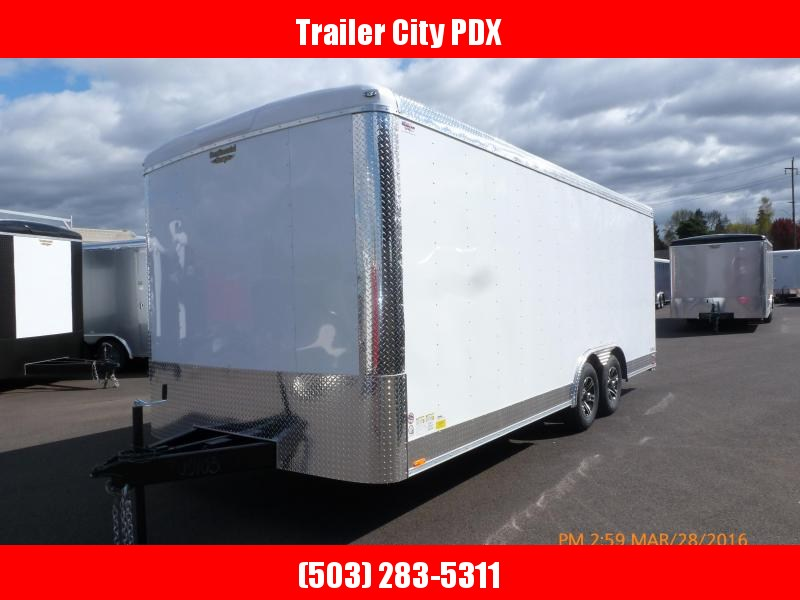 2020 Continental Cargo 8 x 20 10k RAMP CAR HAULER WHITE Enclosed Cargo Trailer