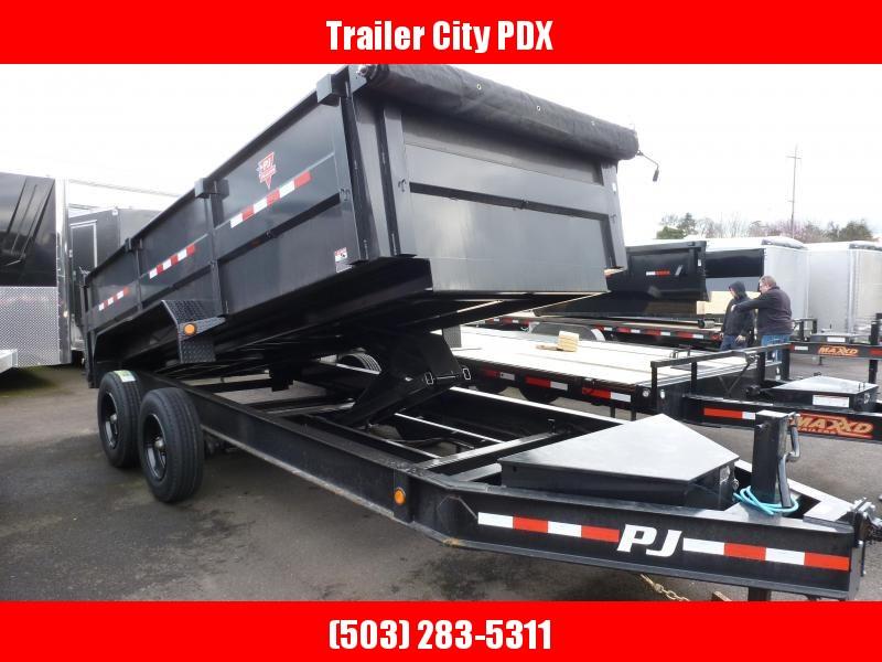 2020 PJ Trailers 7 X 16 HEAVY DUTY LOW PRO DUMP 20K 3 FT SIDES Dump Trailer