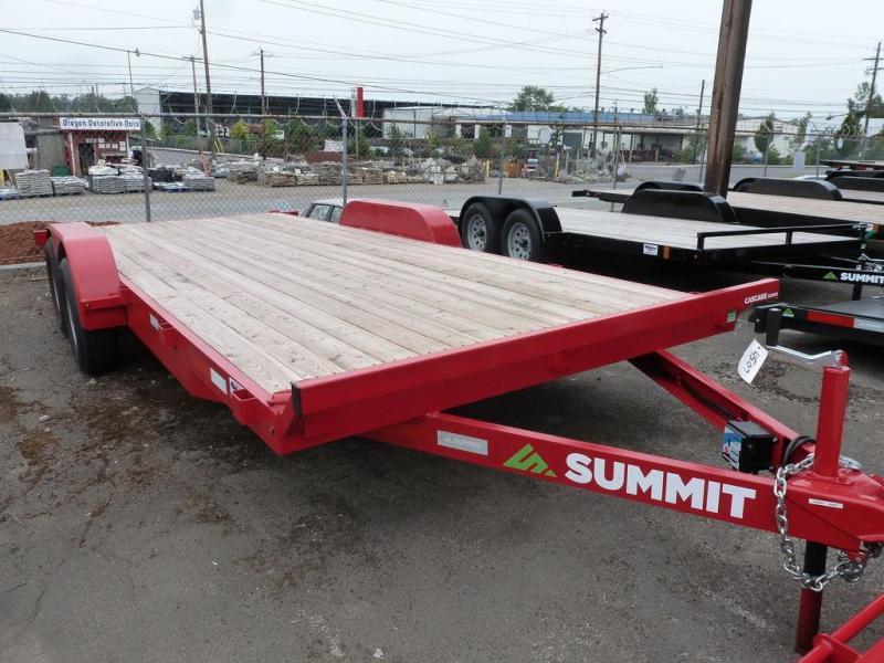 Summit 7X18 7K FLATBED RED