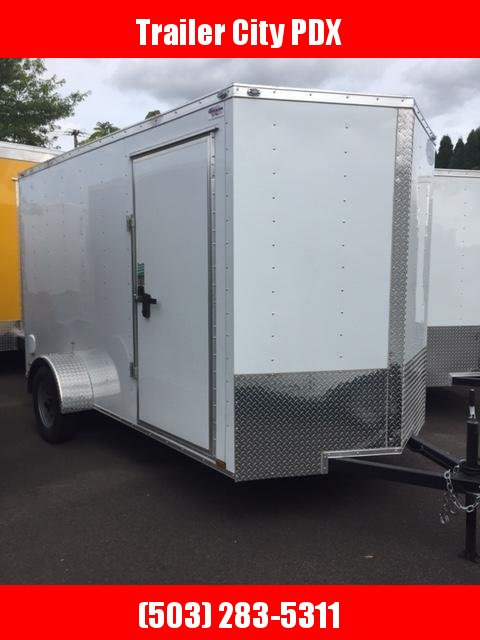 Continental Cargo 6 x 12 3k V SERIES TALL RAMP WHITE Enclosed  Trailer