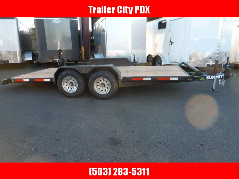 2020 Summit DPTB716TA3 10K Tilt Flatbed Trailer
