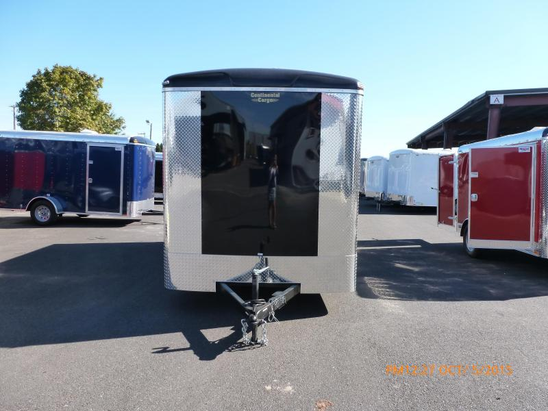 2020 Continental Cargo 7 X 14 7K RAMP BLACK Enclosed Cargo Trailer