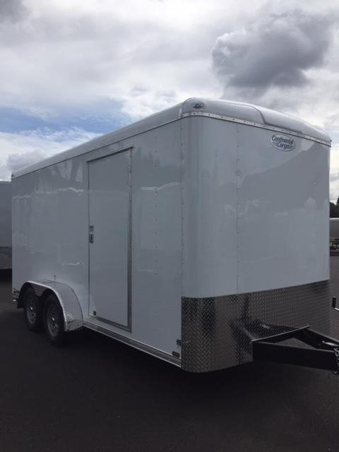 Continental Cargo 7 X 16 7K TALL RAMP WHITE Enclosed  Trailer