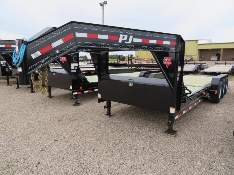 2020 PJ Trailers 24 Tiltbed GN Triple Axle Equipment Trailer