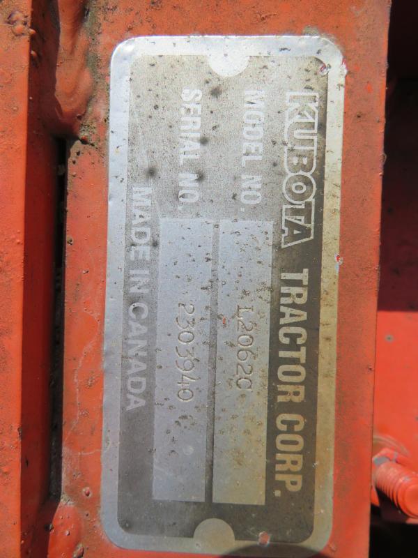Kubota L2062C Sweeper Attachment