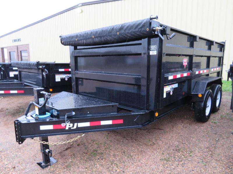PJ Trailers 14  Low Profile High Side Dump Trailer