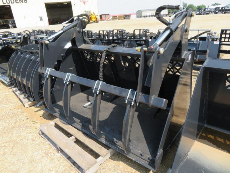 "Jenkins 72"" Skid Steer High Capacity Grapple Bucket"