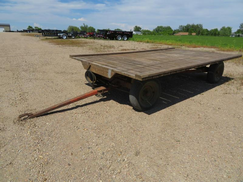 Used 8 x 14 Hay Flatbed on Wards Running Gear