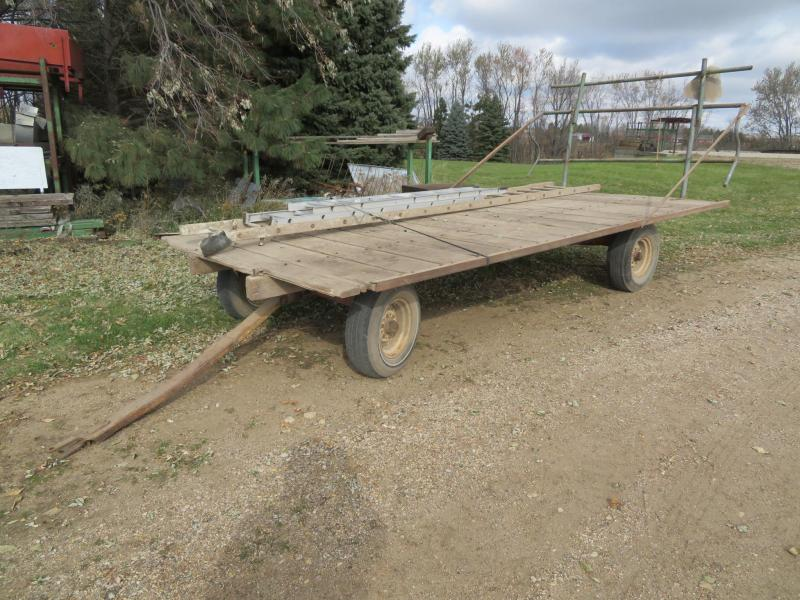 Used 8 x 16 Hay Flatbed on New Holland Running Gear