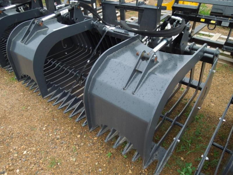 "Jenkins 74"" Skid Steer Rock Bucket with Grapple"