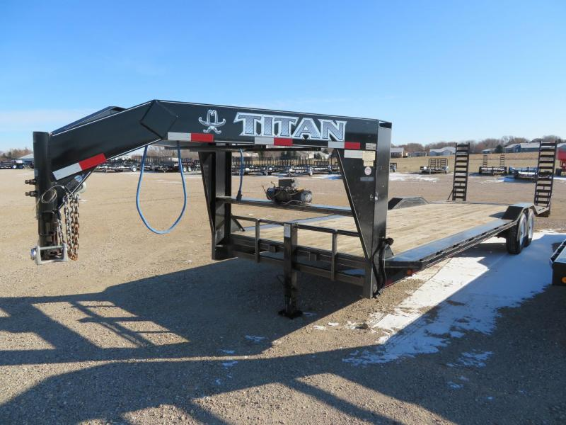Used Titan 30 Drive Over Fender GN Equipment Trailer