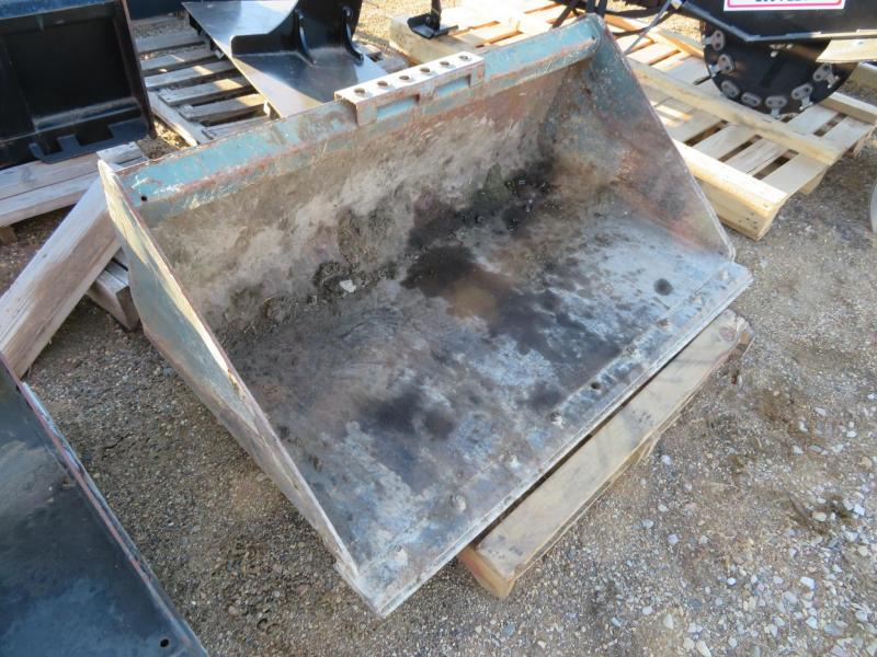 "Used Gray 54"" Skid Steer Bucket"