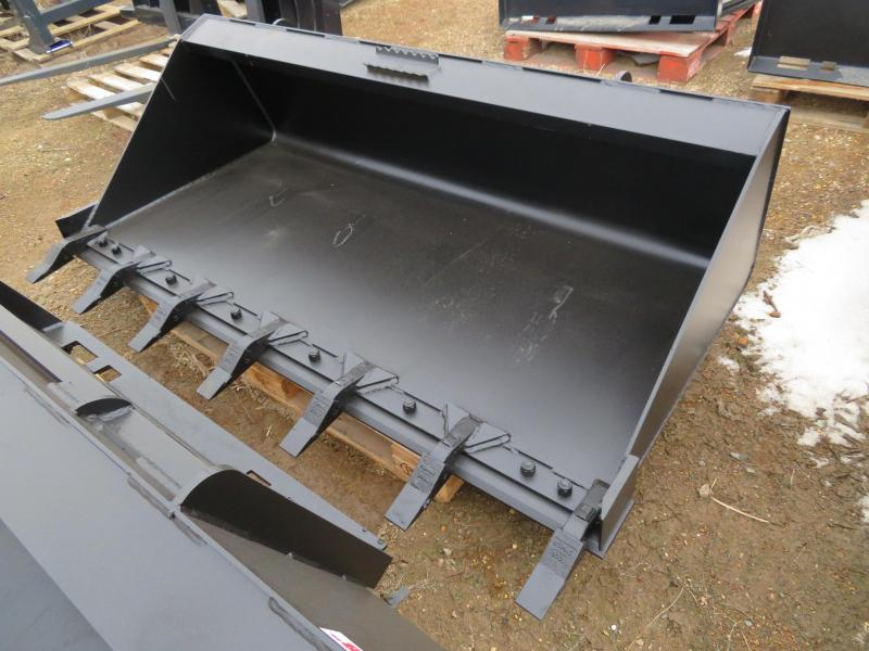 "New Jenkins 74"" HD Skid Steer Bucket with Teeth"
