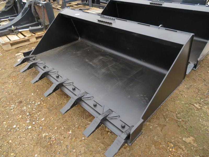 "New Jenkins 68"" HD Skid Steer Bucket with Teeth"