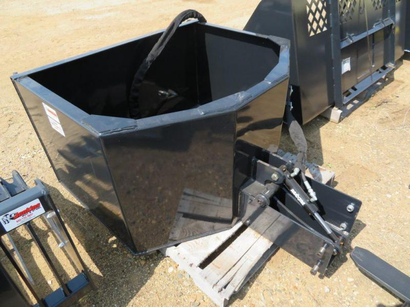 New Jenkins Hydraulic Skid Steer Concrete Bucket / Hopper