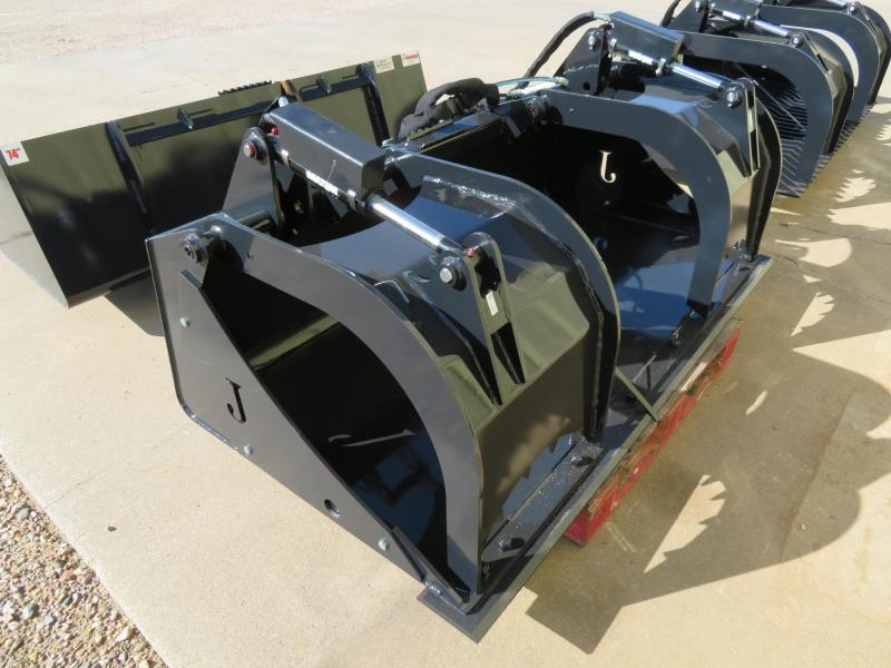 "New Jenkins 74"" Skid Steer Flat Bottom Bucket with Grapple"