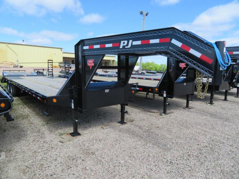 2020 PJ Trailers 32 Tandem Dual GN Trailer w/ Monster Ramps