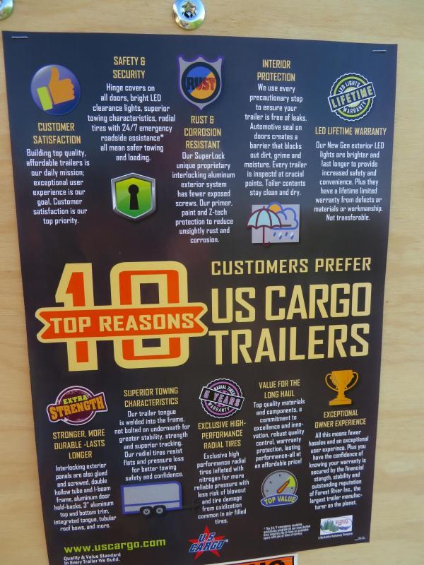 2020 US Cargo 5 x 8 Enclosed Cargo Trailer