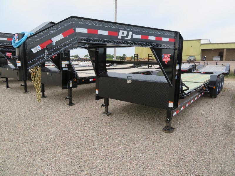 2020 PJ Trailers 26 Tiltbed GN Triple Axle Equipment Trailer