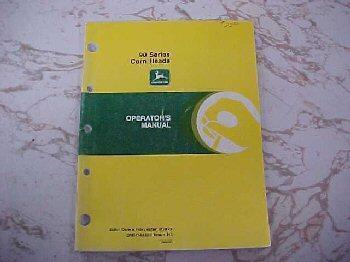 Used 90 Series Cornhead Manual