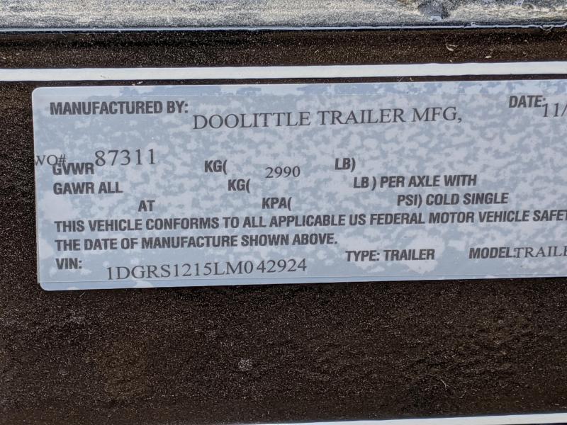 2020 Doolittle Trailer Mfg 770 Series Single Axle 3K Utility Trailer