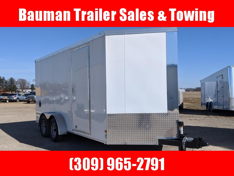 2020 Haulmark Grizzly V-nose Extra tall  7X16 Enclosed Cargo Trailer