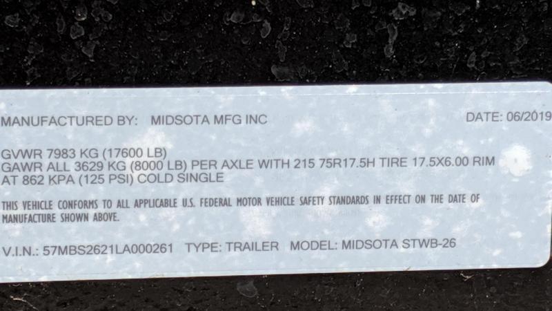 2020 Midsota STWB-26 Flatbed Trailer