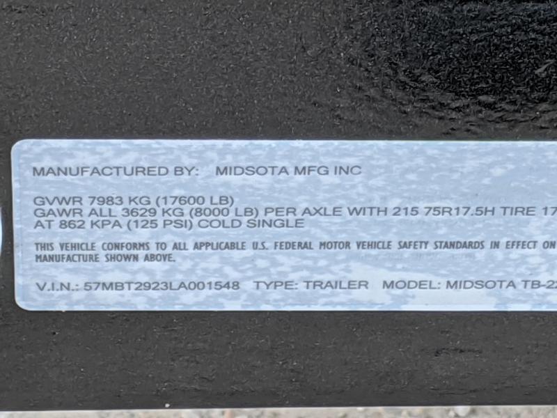 2020 Midsota TB-22 Flatbed Trailer