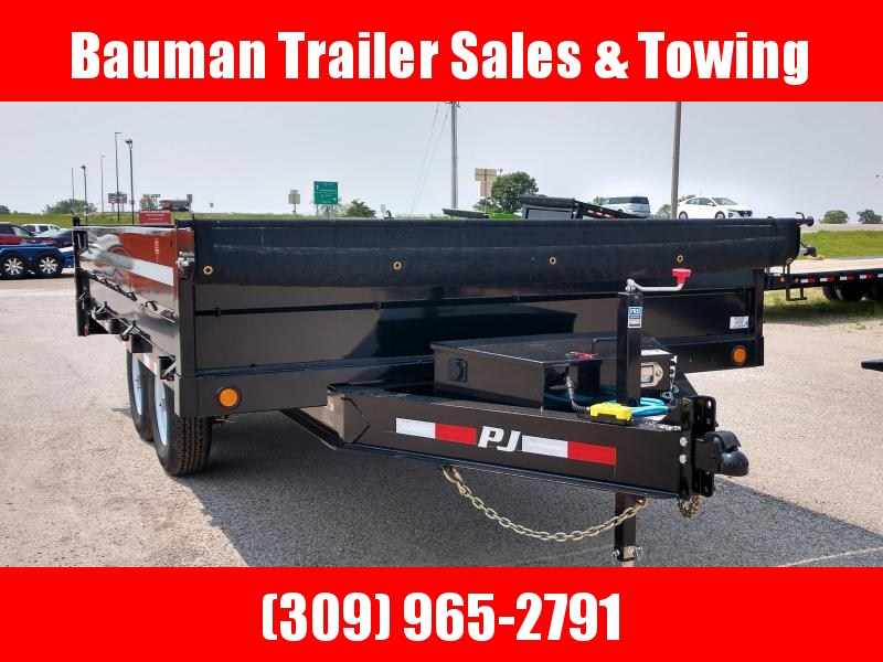 2020 PJ Trailers 96 in.Wide 14ft long Deckover Dump (D8) Dump Trailer