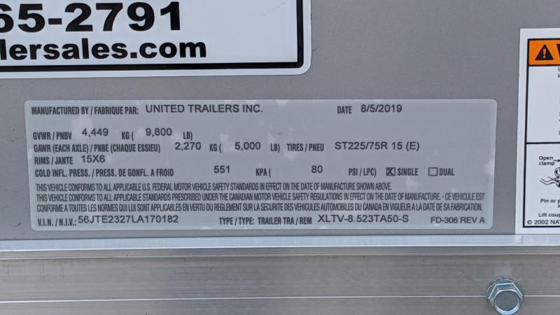 2020 United Trailers XLTV 8.5X23 Car / Racing Trailer