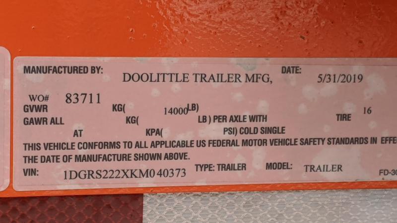 2019 Doolittle Trailer Mfg EZ Loader GT 22FT TILT 14K Flatbed Trailer