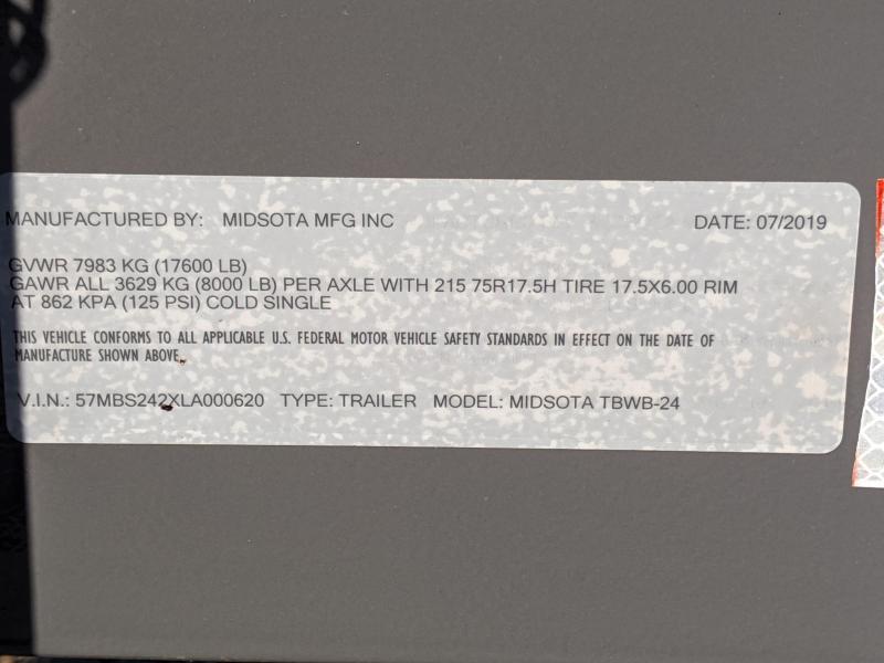 2020 Midsota TBWB Flatbed Trailer