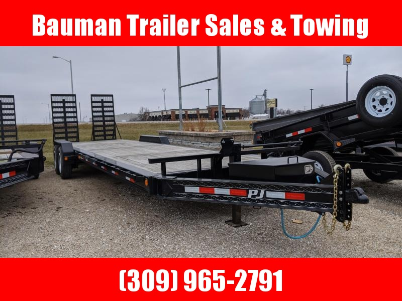"2020 PJ Trailers 8"" Pro-Beam 28ft (H4) Flatbed Trailer"