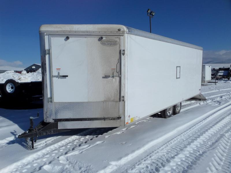 2019 Continental Cargo Snow King 8.5 x 24 Enclosed Snowmobile Trailer