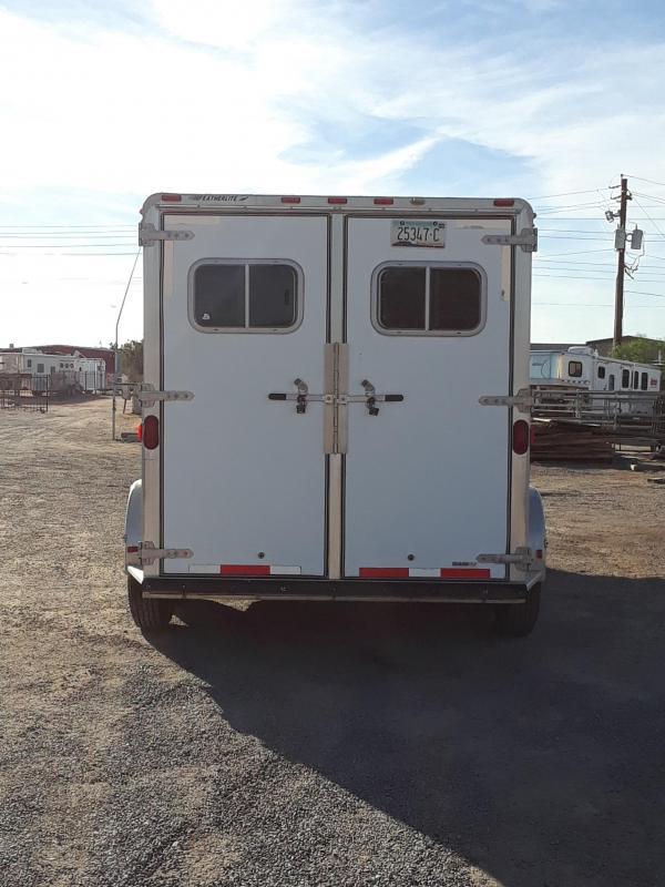 1998 FEATHERLITE 8544 3H GN HORSE TRAILER