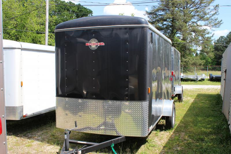 Black CARRY-ON 6X12 CGR  Enclosed Cargo Trailer