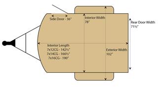 White CARRY-ON 7X16CG V-NOSE Enclosed Cargo Trailer