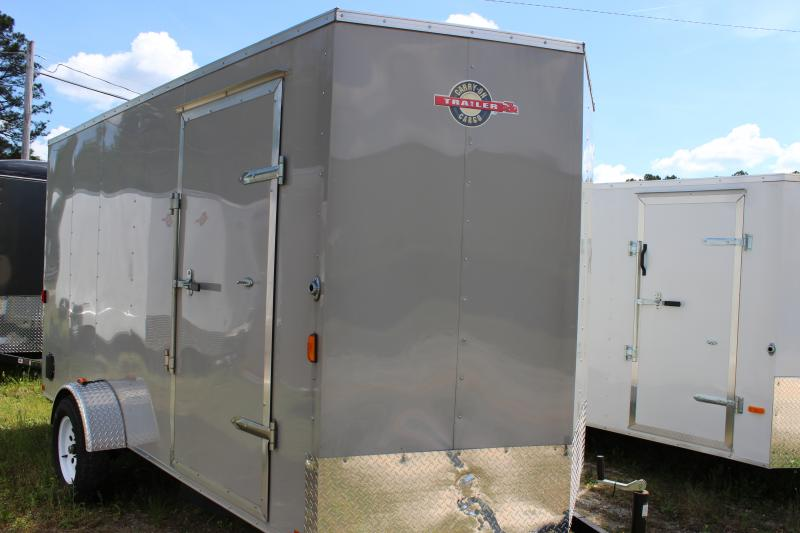 2020 Carry-On 6x14 Carry-On Gray Vnose Cargo Trailer Cargo / Enclosed Trailer