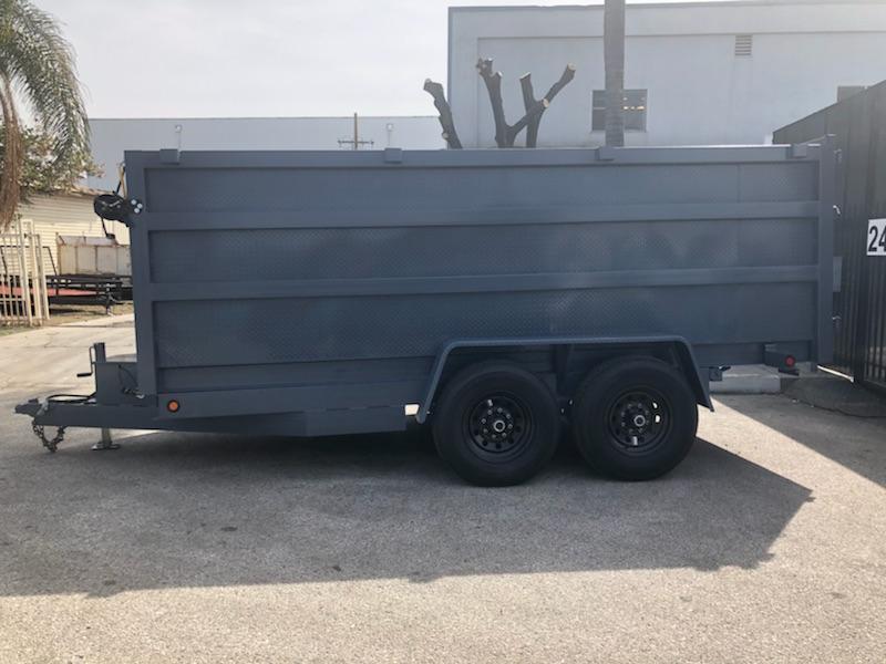 2019 SKY 8X 12 X 4 Gray Dump Trailer