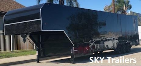 2019 SKY 8 1/2 X 32 X 8 Enclosed Gooseneck Trailer