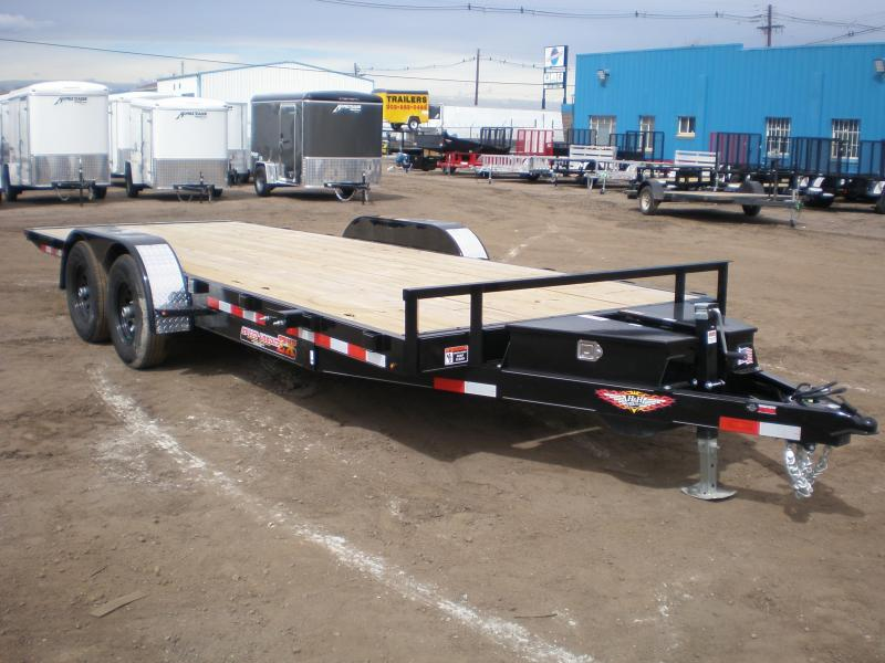 2019 H&H 82X20 10K ELECTRIC TILT Flatbed Trailer