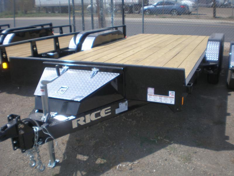 2020 Rice 82x16 Flatbed Car Hauler - No Dovetail